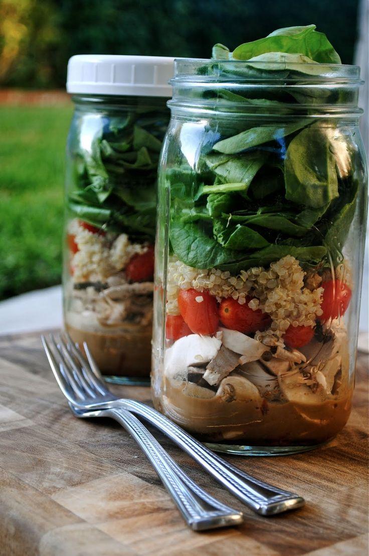 Salad Jar con tenedores