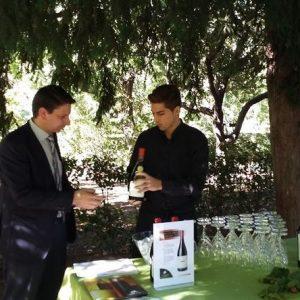 mesa de la cata de vinos de evento mesa de temporada