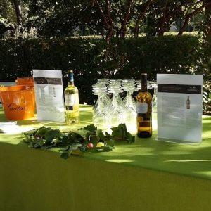 Mesas de cata vinos del catering evento mesa de temporada