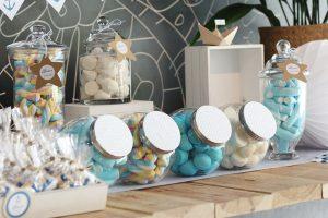 mesa de dulces para Primera Comunión o bautizos
